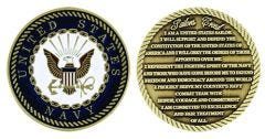 U.S. NAVY SAILOR CREED CHALLENGE COIN
