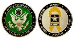 Army Proud Parent Coin