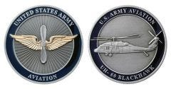 U.S. ARMY AVAIATION BLACKHAWK CHALLENGE COIN