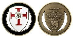 PROVERBS 28:1 CHALLENGE COIN