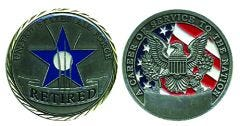 RETIRED U.S. AIR FORCE CHALLENGE COIN