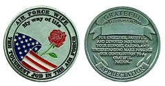 U.S. AIR FORCE WIFE CHALLENGE COIN