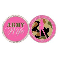 U.S ARMY WIVES CHALLENGE COIN