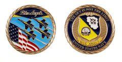 U.S. NAVY BLUE ANGELS CHALLENGE COIN