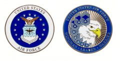 U.S. AIR FORCE RANKS CHALLENGE COIN