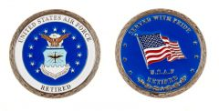 U.S. AIR FORCE RETIRED CHALLENGE COIN