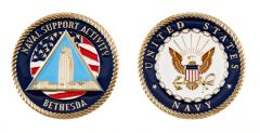 Bethesda Maryland Naval Support Activity Challenge Coin