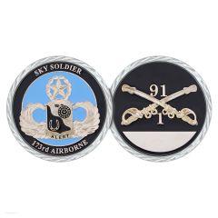 Grafenwoehr 91st  173rd Airborne Sky Soldier US Army Challenge Coin