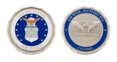 U.S. AIR FORCE COLONEL RANK CHALLENGE COIN