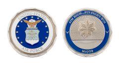 U.S. AIR FORCE MAJOR RANK CHALLENGE COIN