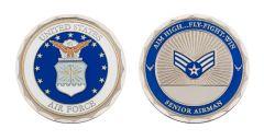 U.S. AIR FORCE SENIOR AIRMAN RANK CHALLENGE COIN