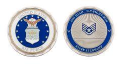 U.S. AIR FORCE STAFF SERGEANT RANK CHALLENGE COIN