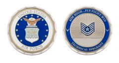 U.S. AIR FORCE TECHNICAL SERGEANT RANK CHALLENGE COIN