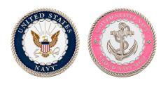 U.S. NAVY PROUD MOM CHALLENGE COIN