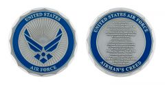 U.S. AIR FORCE AIRMANS CREED CHALLENGE COIN