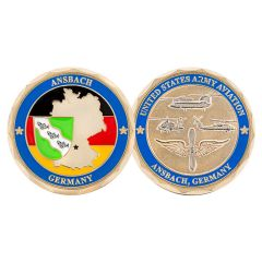 US Army Aviation Ansbache Germany Challenge Coin