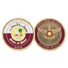 Al Udeid Airbase Qatar Seal Challenge Coin