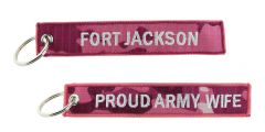 KEY CHAIN PROUD ARMY WIFE FORT JACKSON