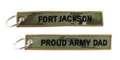KEY CHAIN PROUD ARMY DAD FORT JACKSON