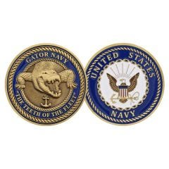 USN Gator Navy Challenge Coin. Teeth of the Fleet