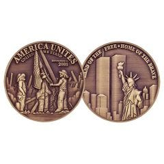 911 TWIN TOWERS ANTIQUE BRONZE