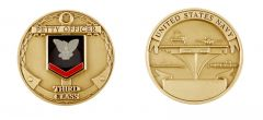 U.S. NAVY PETTY OFFICER THIRD CLASS CHALLENGE COIN