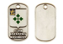 (D) 47TH INF RGT DOG TAG