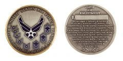 U.S. AIR FORCE OATH OF ENLISTMENT CHALLENGE COIN