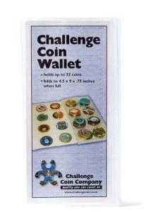 32 CHALLENGE COIN VINYL COLLECTORS WALLET