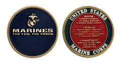 U.S. MARINE CORPS VALUES CHALLENGE COIN